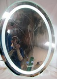 LUVODI BRIGHT LED LIGHTED MIRROR: Press the button to turn on/off the LED light