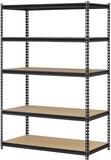 Edsal URWM184872BK Black Steel Storage Rack 5 Adjustable Shelves 4000 lb. Capacity 72