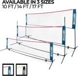 Boulder Portable Badminton Net Set - Net for Tennis Soccer Tennis Pickleball Kids Volleyball - Easy