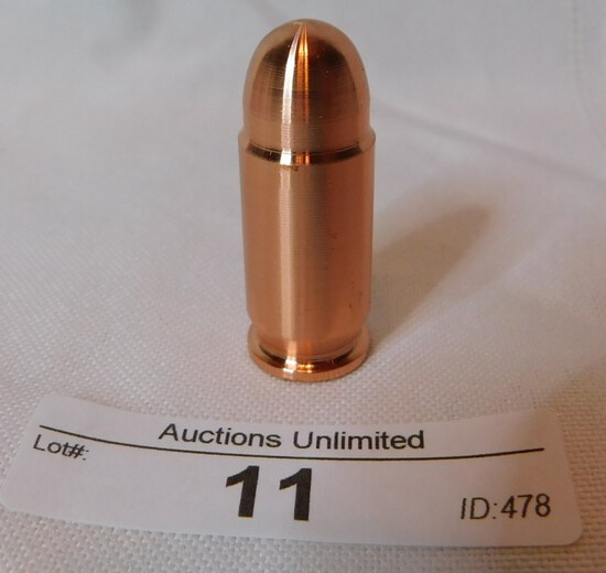 1 OZ .999 COPPER BULLET (this is a collectible item not for use in firearm)