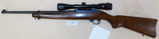 RUGER MODEL 10/22 CARBINE .22 LR SEMI-AUTOMATIC RIFLE W/BUSHNELL SPORTVIEW SCOPE