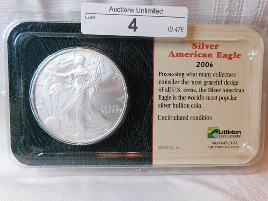2006 AMERICAN EAGLE SILVER DOLLAR SEALED UNCIRCULATED