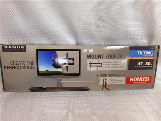 "NEW IN BOX (NIB) SANUS TILTING 47""-80"" TV WALL MOUNT"