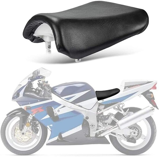 Front Rider Driver Seat Pillion Cushion For Suzuki GSXR600 750 K4 2004 2005 Black