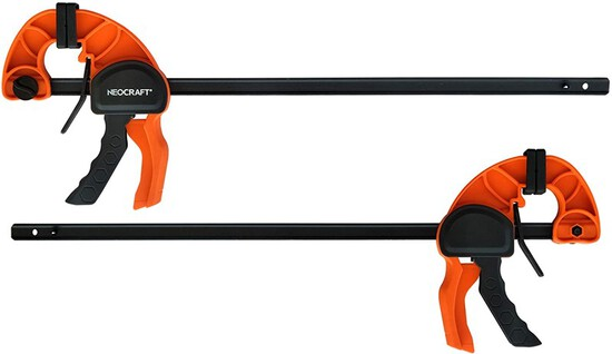 Quick Release Ratchet Bar Clamps for Woodworking (2 Pieces Set 30'') - Light Duty Adjustable Handi-C