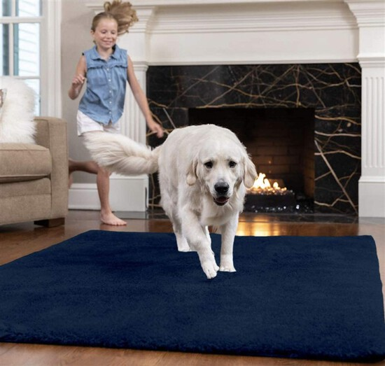Original Faux-Chinchilla Area Rug 5x7 FT Many Colors Soft Cozy High Pile Washable Kids Carpet Rugs f