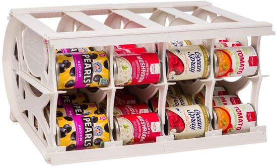 Shelf Reliance Pantry Can Organizers - Customizable Can Lengths - First in First Out Rotation - Desi