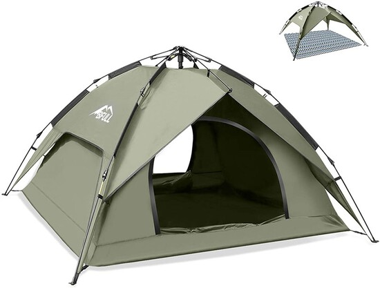 Instant Pop Up Camping Tents for 2-3 Person Family Dome Waterproof Sun Shelters Backpacking Tents Qu