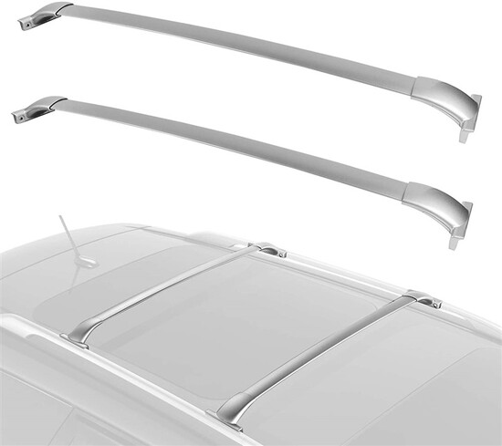 Roof Rack Luggage/Cargo Cross Bar Rail Top Aluminum Locking Crossbars Compatible for 2013-2018 Nissa