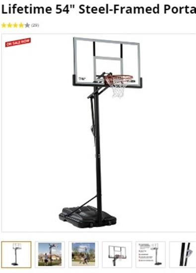 "54"" Steel-Framed Portable Basketball Hoop ~ LOCAL PICKUP ONLY UNLESS YOU WANT TO PAY THE SHIPPING ~"