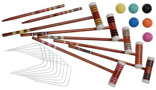 Halex Deluxe Croquet Set ~ 2-6 Player