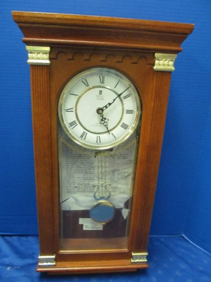 Crown Court Quartz Westminster Chime Wall Clock 24 1/2