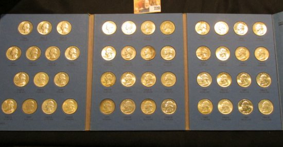 1946-64 Complete Set of Washington Quarters in a blue Whitman folder. Many of the coins are very hig