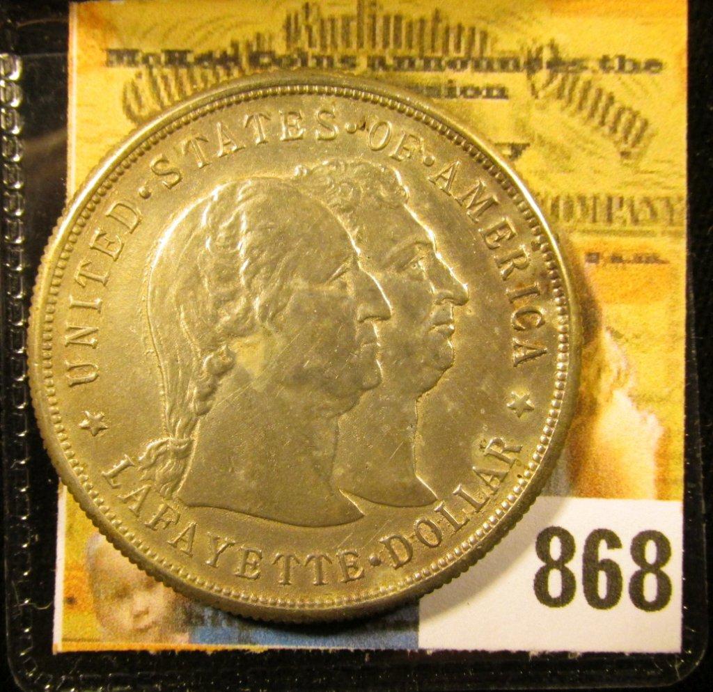 1900 Lafayette Commemorative Silver Dollar, AU.