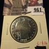 961 . 1908-S Barber Half Dollar, G polished, G value $16