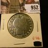 952 . 1906 Barber Half Dollar, G polished, G value $16