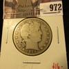 972 . 1914-S Barber Half Dollar, G, value $16