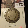 973 . 1915-D Barber Half Dollar, G, value $16