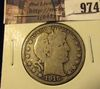 974 . 1915-S Barber Half Dollar, VG, value $16