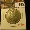975 . 1916 Walking Liberty Half Dollar, AG, low cost hole filler, G