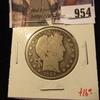954 . 1906-O Barber Half Dollar, G, value $16