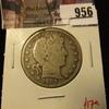 956 . 1907-D Barber Half Dollar, VG, value $17