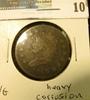 1810 U.S. Large Cent, VG, heavy corrosion.