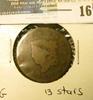 1817 U.S. Large Cent, G, 13 stars.