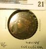 1822 U.S. Large Cent, VG, heavy corrosion.