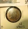 1828 U.S. Half Cent, Fine, 12 stars.