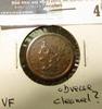 1851 U.S. Half Cent, VF, obverse cleaned?