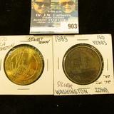 1957 silver Constitution Comm scarce Mexican peso coin BU grade--lot270