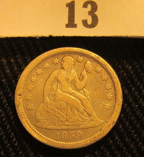 1859 O Liberty Seated Dime.