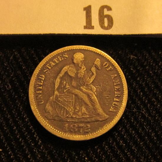 1872 P Liberty Seated Dime.