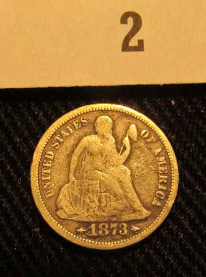 1873 S Liberty Seated Dime.