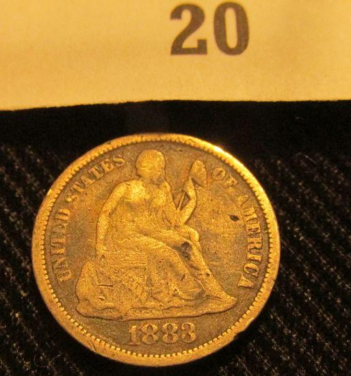 1883 P Liberty Seated Dime.
