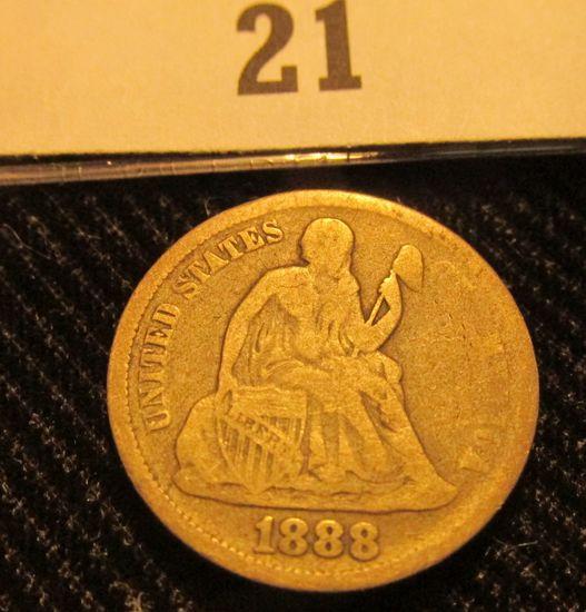 1888 P Liberty Seated Dime.