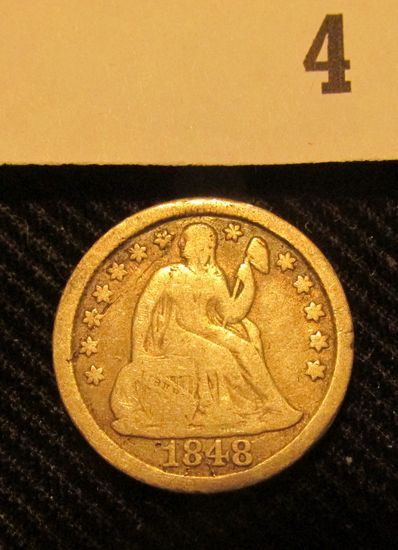 1848 P Liberty Seated Dime.