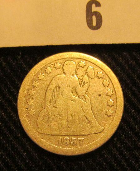 1857 P Liberty Seated Dime.