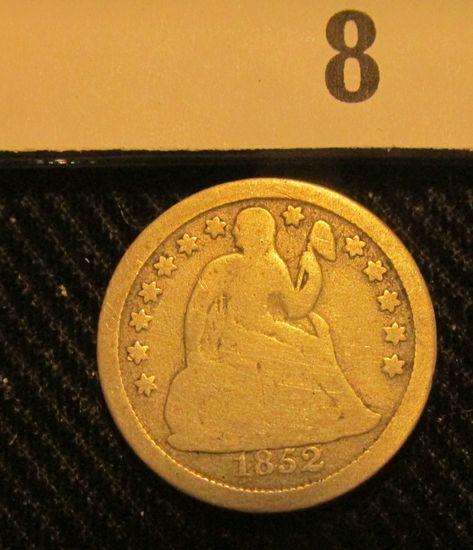 1852 P Liberty Seated Dime.