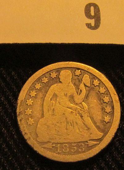 1853 O Liberty Seated Dime.