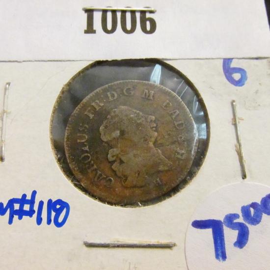 German States/ Baden 1772-S Silver 5 Kreutzer Coin