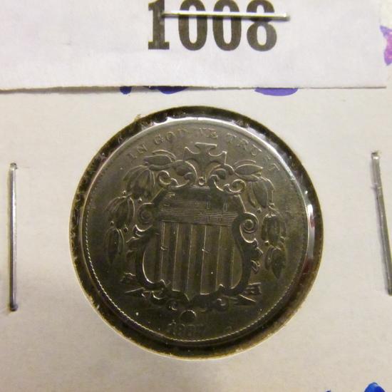 1867 No Rays Shield Nickel