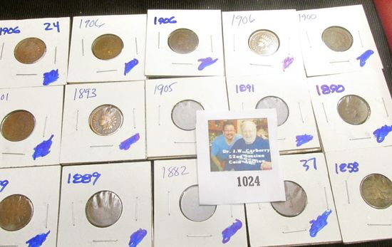 (15) Indian Head Cents All For One Money