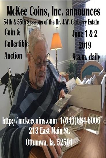 Dr. J.W. Carberry Estate Auction Sess 54 & 55