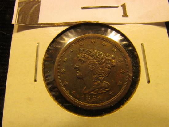 1854 U.S. Half Cent, CH BU 64 Brown.