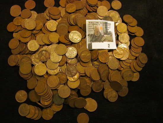 (400) Unsearched Wheat Cents.
