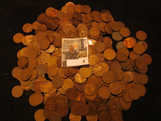 Approximately (400)  Unsearched Wheat Cents.
