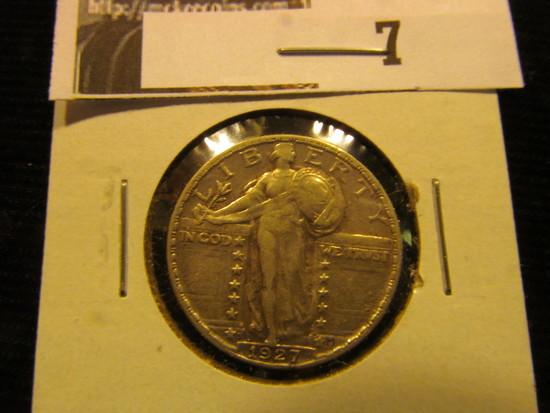 1927 S U.S. Liberty Seated Quarter, CH VF.