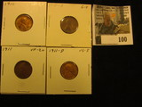 1910 P VF, 10 S Very Good, 11P VF, & 11D VG Lincoln Cents.